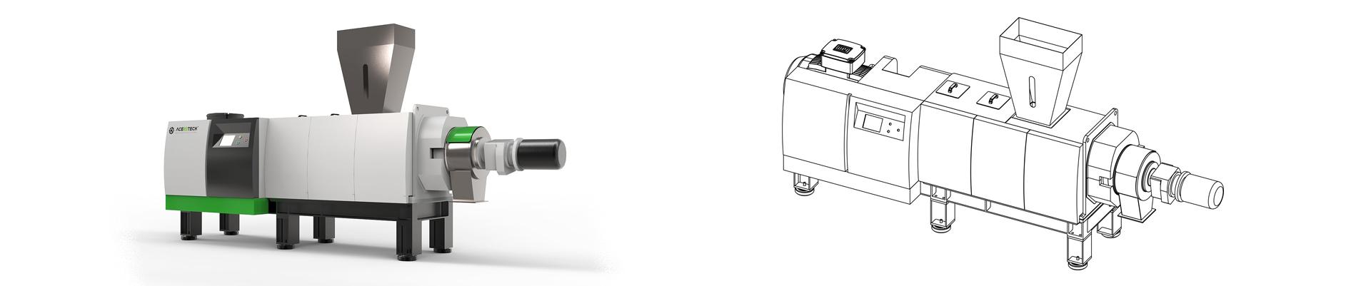新型ASD塑料挤干机