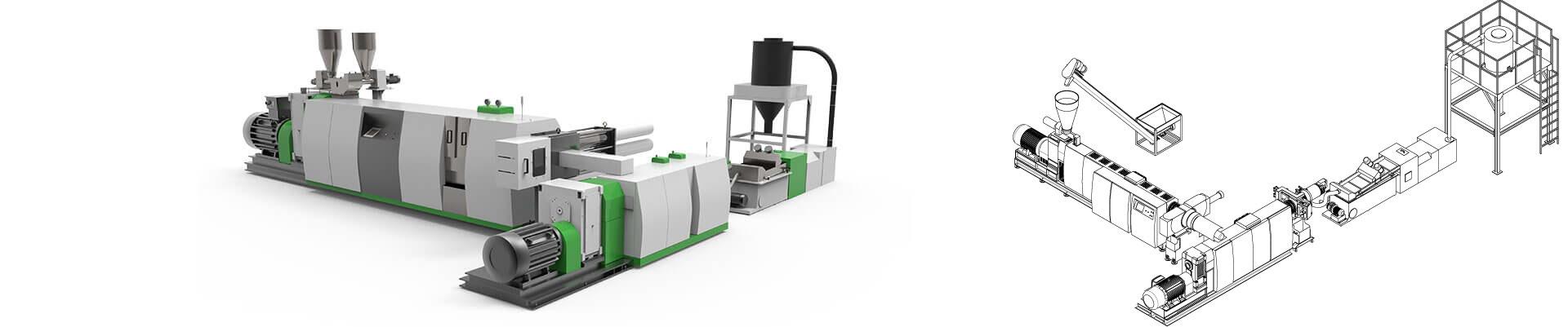 ASE-D 双阶挤出回收造粒生产线