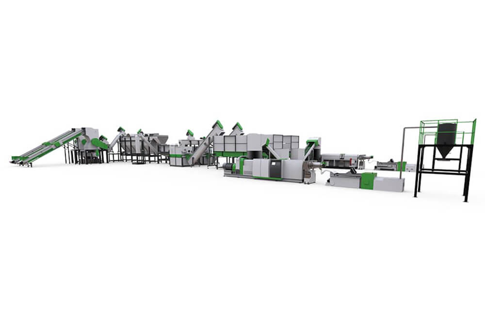 Plastic Recycle Washing and Pelletizing Turn-key Solution