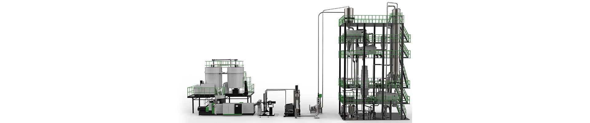 SSP PET连续性塑料回收粉碎机造粒机